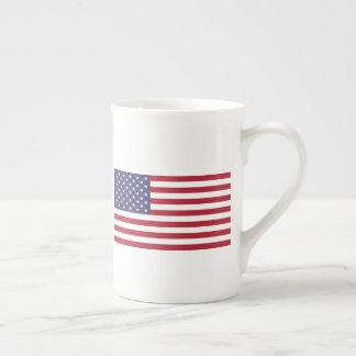 Bone China Mug with Flag of USA