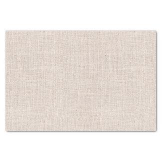 Bone Colored Burlap Texture Tissue Paper