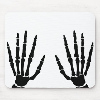 Bone Hands Isolated Mouse Pad