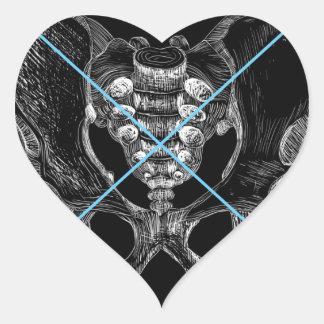 bone heart sticker
