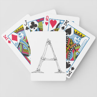 Bone Letter - A Bicycle Playing Cards