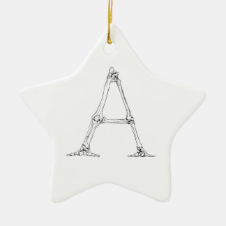 Bone Letter - A Ceramic Ornament