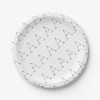 Bone Letter - A Paper Plate
