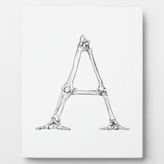 Bone Letter - A Plaque