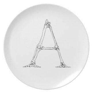 Bone Letter - A Plate