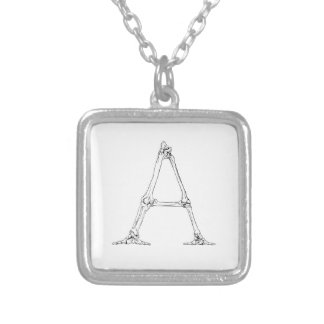 Bone Letter - A Silver Plated Necklace
