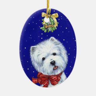 Bone Noel Westie Ornament by Borgo