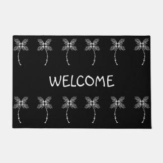 Bone Palm Trees Welcome Doormat