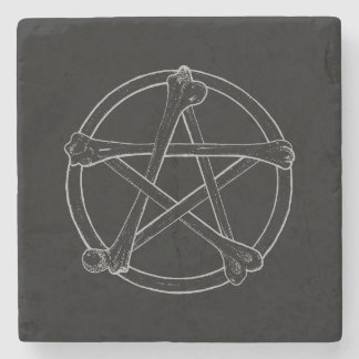 Bone Pentacle Stone Coaster