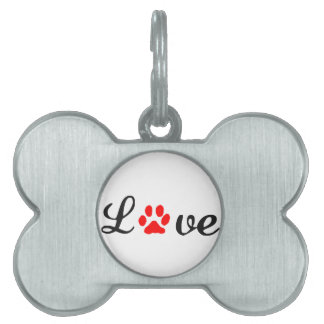Bone Pet Tag love dog