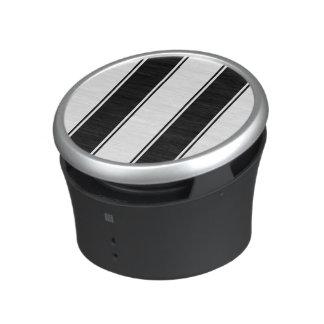 Bone White and Black-Striped Bluetooth Speaker