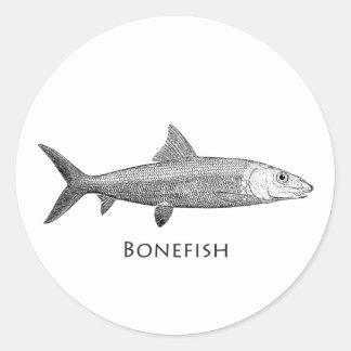 Bonefish Logo Classic Round Sticker