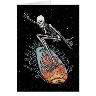Bonehead Board Dude Greeting Card