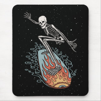 Bonehead Board Dude Mouse Pads