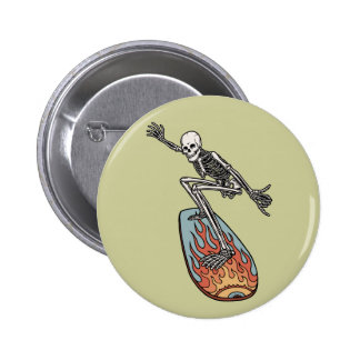 Bonehead Board Dude Pinback Buttons