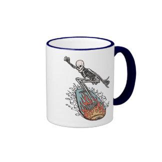Bonehead Board Dude Ringer Coffee Mug