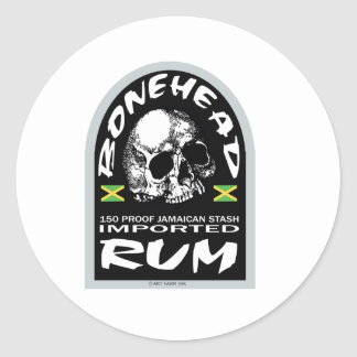 Bonehead Rum Classic Round Sticker