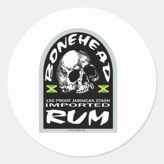 Bonehead Rum Round Sticker