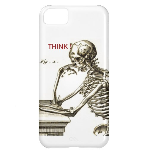 BONEHEAD The Contemplating Skeleton iPhone 5C Covers