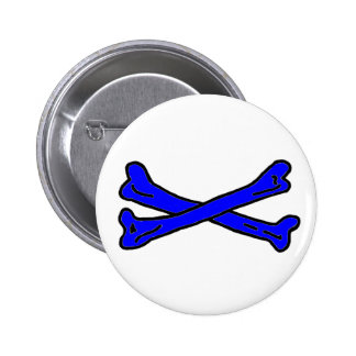 Bones Blue jGibney The MUSEUM Zazzle Gifts 2 Inch Round Button