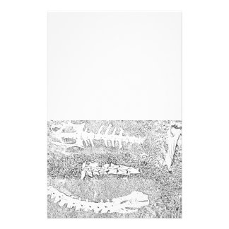 Bones Coloring DIY Coloring Project Personalized Stationery