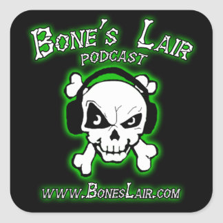 Bone's Lair Podcast Stickers
