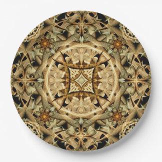 Bones Mandala 9 Inch Paper Plate