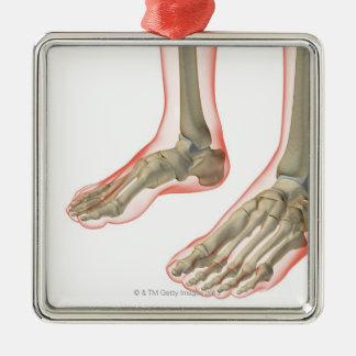 Bones of the Feet Metal Ornament