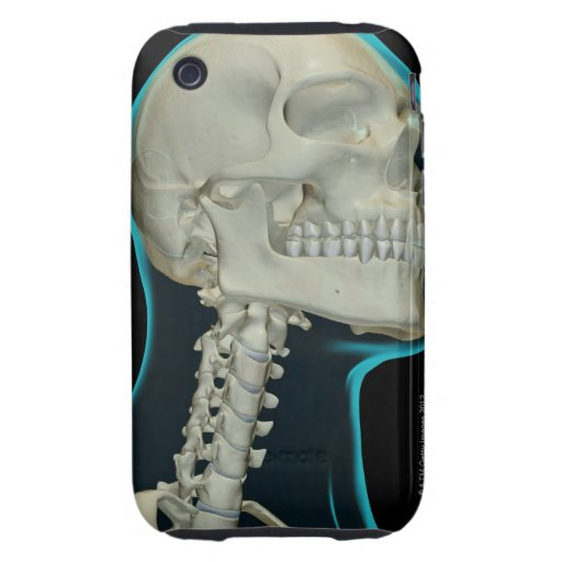 Bones of the Head and Neck 8 Tough iPhone 3 Case