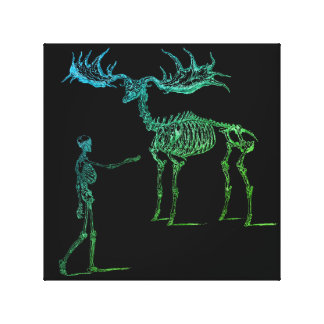 Bones & The Beast Canvas Print