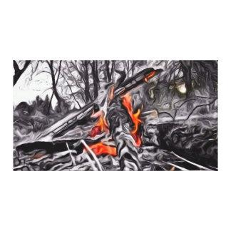 Bonfire Glow Stretched Canvas Prints