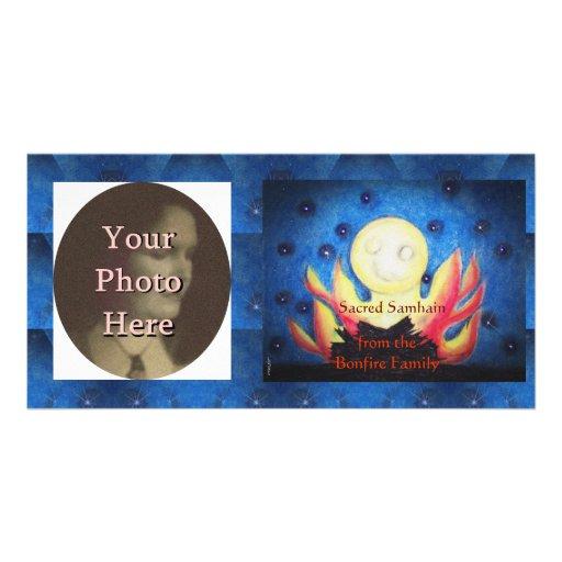 Bonfire Moon Samhain Witch Wiccan Pagan Photo Card