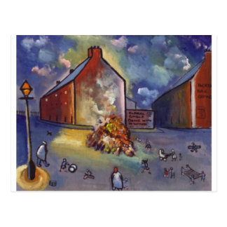 BONFIRE NIGHT POSTCARD