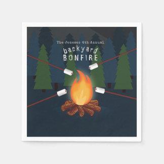 Bonfire Party Paper Napkin