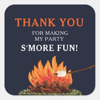 Bonfire & Smore's Birthday Stickers