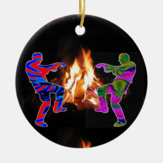 BonFire Zombie Dance Ceramic Ornament
