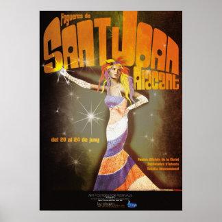 Bonfires of San Juan Alicante Poster