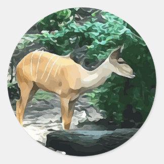 Bongo from Safari Classic Round Sticker