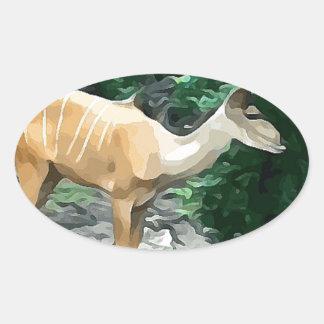 Bongo from Safari Oval Sticker