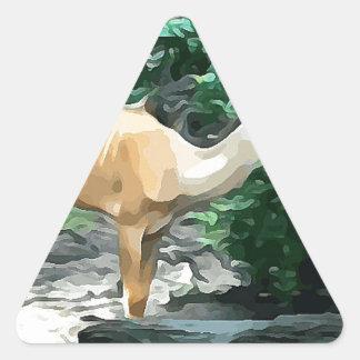 Bongo from Safari Triangle Sticker