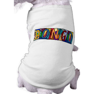 BONGO ~ PERSONALIZED BIG LETTER PET-WARE FOR DOGS! SLEEVELESS DOG SHIRT