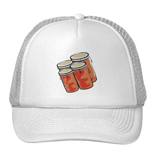 Bongo Set of Four Percussion Drum Graphic Trucker Hat