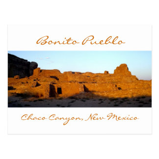 Bonito Pueblo Chaco Canyon at Sunset Postcard