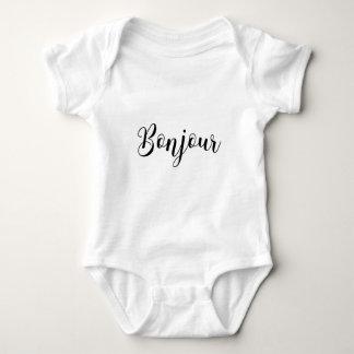 Bonjour-blackText Baby Bodysuit