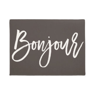 Bonjour Custom Color Welcome Mat