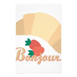 Bonjour Custom Stationery