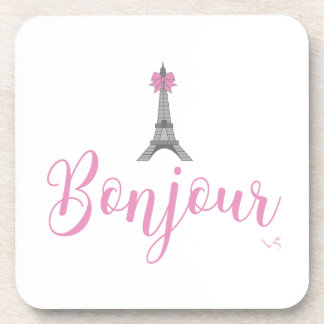 Bonjour-Eiffel Tower Bow Unique Coaster