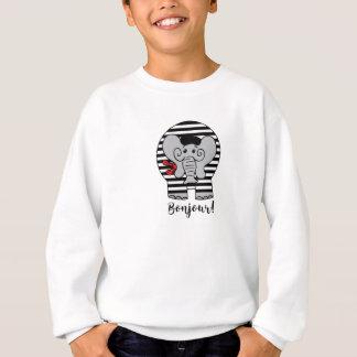 Bonjour Elephant Cartoon Sweatshirt
