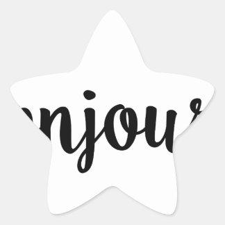 bonjour french hello gift college girl star sticker