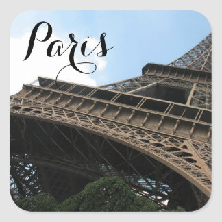 Bonjour From Paris Chic European Travel Square Sticker